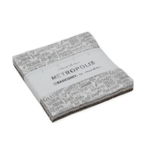 Charm-pack-Metropolis-by-Basicgrey-for-Moda-30560PP-42-5-034-100-cotton-squares