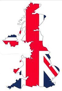 Pack-of-6-New-Postcard-United-Kingdom-Flag-Map-Union-Jack-77L