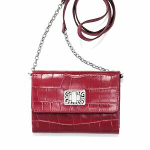 NWT-Brighton-MINGLE-Red-Cross-Body-Leather-Medium-Tech-Wallet-MSRP-155