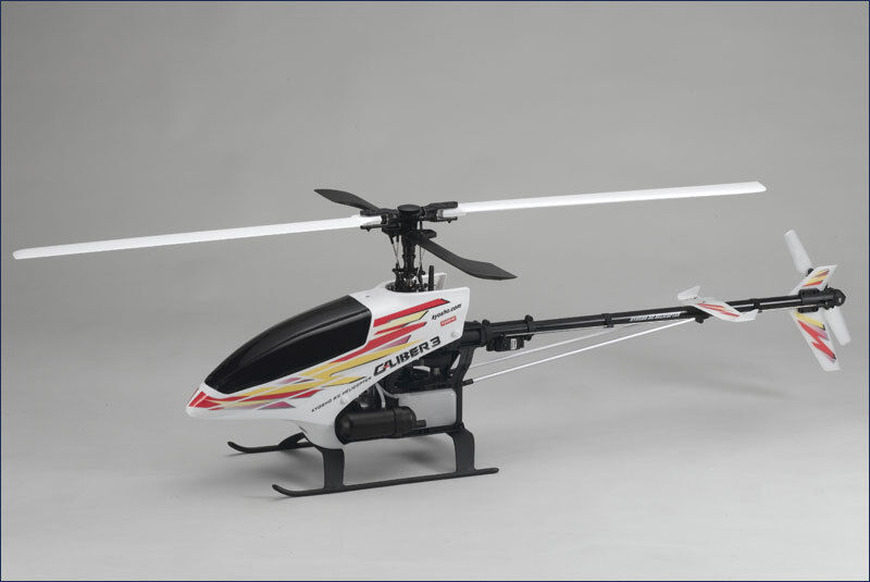 Kyosho Caliber 3 helicopter + GX36H engine + Tune Pipe + Blades