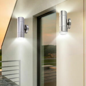 Stainless-Steel-Waterproof-Sconce-Lamp-Outdoor-Wall-Light-Fixtures-Up-Down-LED