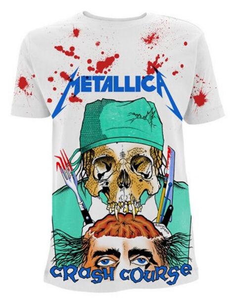 """Bello I Metallica 'corso Intensivo In Neurochirurgia"""" (bianco) T-shirt-nuovo E Ufficiale! Firm In Structure"""