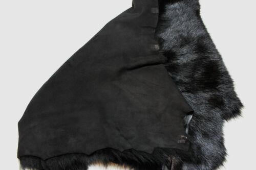 prendas de vestir Puños collares Cojines Negro de Piel de Oveja Toscana Piel Cordero de ropa