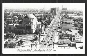 Los Angeles rppc Wilshire Boulevard Temple Judaica 1940