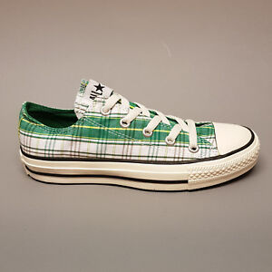 Details zu Converse All Star Chuck Ox Punk Plaid White Pine Green 113962 Sneaker weiß grün