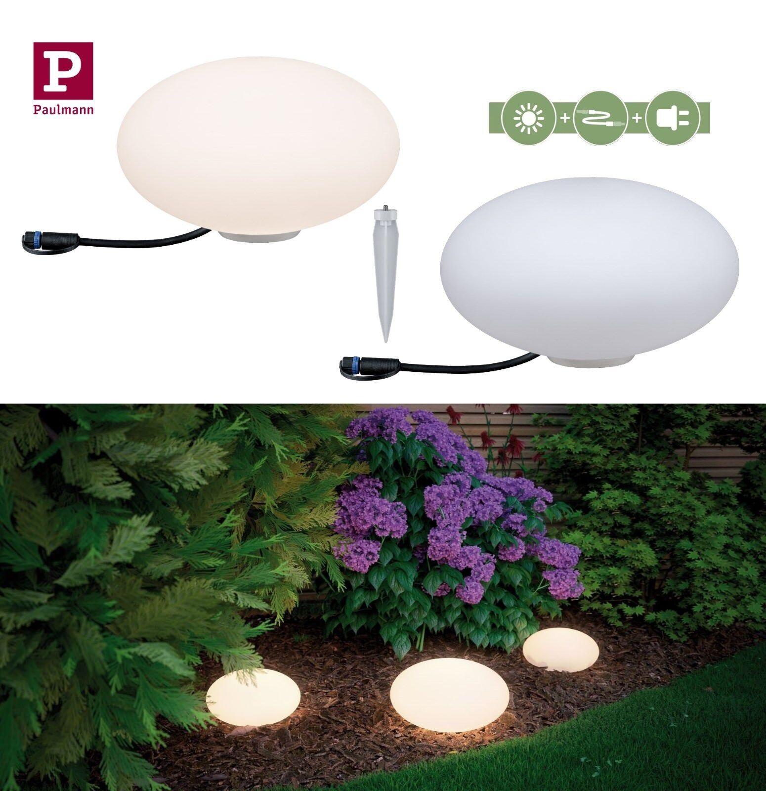 Paulmann Plug&Shine Lichtobjekt Stone IP67 3000K 2,8W 24V D35cm IP67 Dimmbar | Vielfalt  | Wir haben von unseren Kunden Lob erhalten.  | München