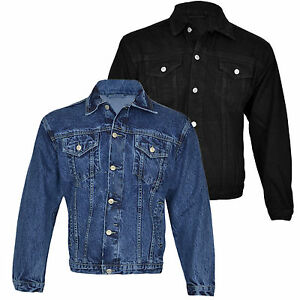 MENS-DENIM-JACKETS-TRUCKER-CLASSIC-VINTAGE-WORKWEAR-WESTERN-STONEWASH-JEAN-COAT