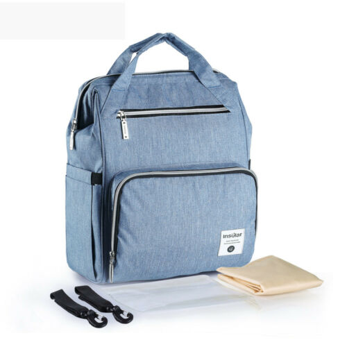 Waterproof Mummy Nappy Diaper Bag Maternity Hospital Changing Nursing Backpack