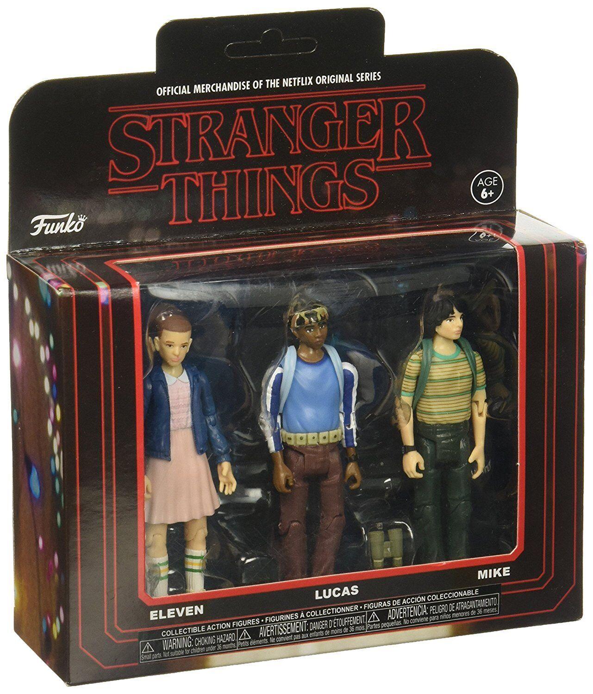Eleven Lucas Mike 3-Pack Stranger Things Netflix Serie 3 3 4  Figur Funko