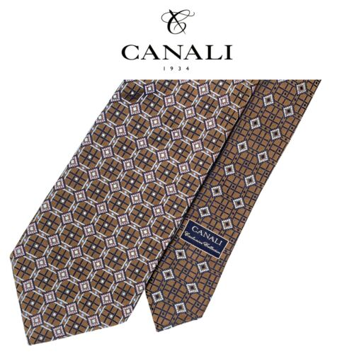 Silk Tie 3.75 inches wide with Light Blue Brown Gold Black Stripes