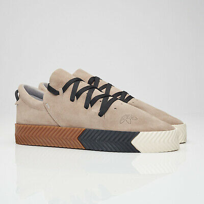 Details about adidas x Alexander Wang AW Skate Shoes Suede Low Top Sneakers Light Grey BY8910