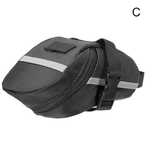1.2L Bicycle Waterproof Storage Saddle Bag Bike Seat Cycling Tail Rear Pouch NEW