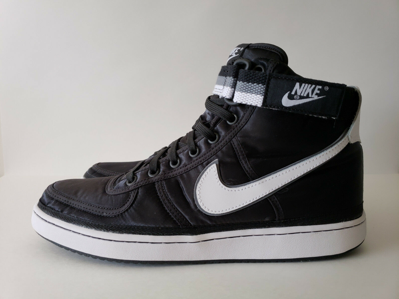 Nike Vandal High Supreme - Size 10.5 - 318330-001 Satin QS White Grey Black Hi