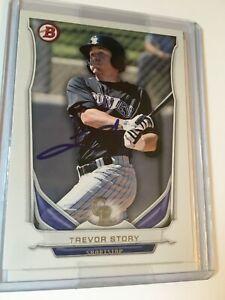 2014 Bowman Draft Baseball Top Prospects #TP-74 Trevor Story on Card Auto (A)
