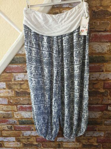 Ladies Harem Style Trousers Elephant Print
