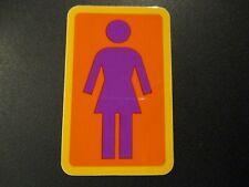 """GIRL SKATEBOARDS White Black Classic logo Skate Sticker 1.5X2/"""" helmets decal"""