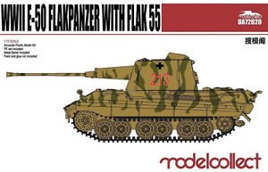 Modelcollect 1/72 Kits E-50 Flakpanzer with Flak 55 WWII UA72020