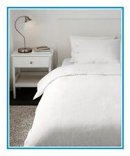 """IKEA Linblomma""""WHITE""""Full/Queen Duvet Cover Sham/Pillowcase Ivory Cream Linen"""