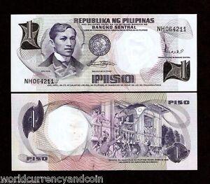 Philippines 1 Piso P-142 banknote 1969 UNC