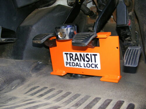Ford Transit Pedal Lock fits from 2001 to 2013 mk7 chrome lock inc.