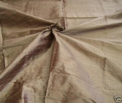 """Handloom 100/% soie dupion 54 /""""largeur camel de moitié MT"""