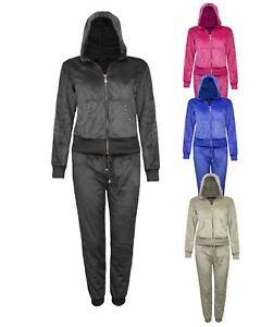 Débardeur femme à rayures Cropped Sweat à capuche survêtements deux pièces de détente Survêtement Uk8-14