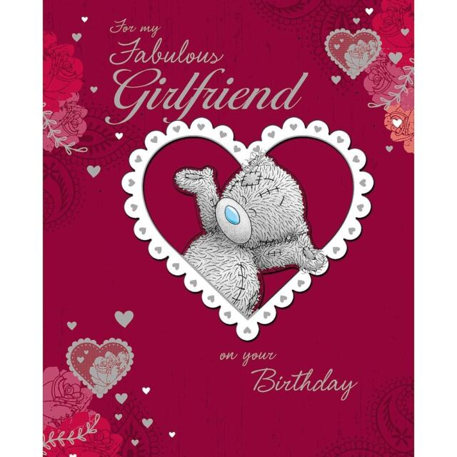 Me To You Fabulous Girlfriend On Your Birthday Card Red Love Hearts Tatty Teddy