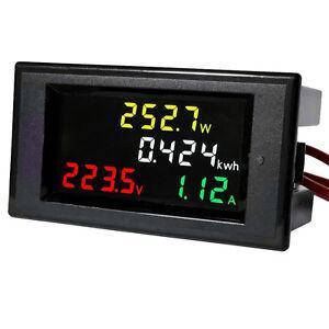 Nuevo-AC-80-300V-100A-Digital-LCD-Voltimetro-Amperimetro-Medidor-de-panel-de-energia-voltios-AMP-kWh