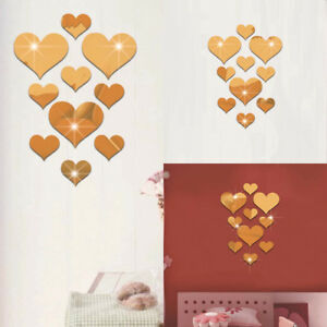 10Pcs-3D-Sticker-Miroir-Mural-Autocollants-Coeur-Decal-Amovible-Salon-Decor-Mode