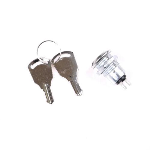 12mm Key Switch ON//OFF Lock Switch KS-02 KS02 Electronic Key Switch with KeysTYJ