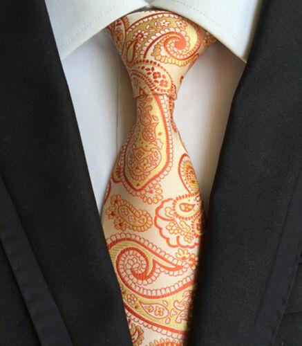 027KT jacquard mens silk neck tie paisley vintage for 2016 party necktie ties