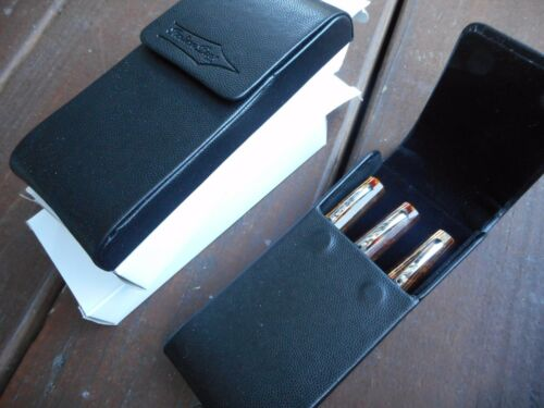 2 SET OF ITALIANPENS 3 PEN CASE LEATHER SALE