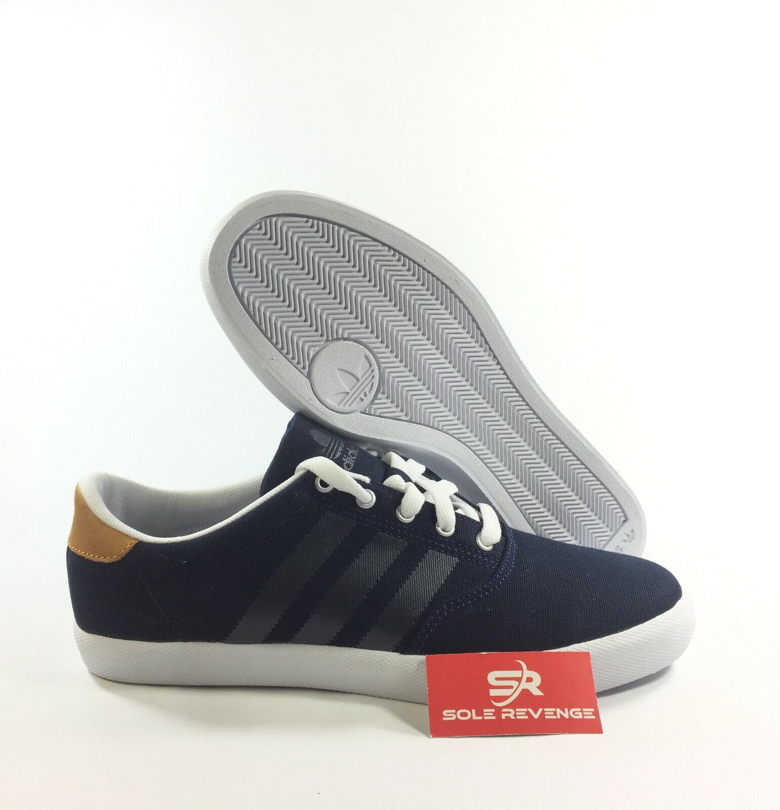8 adidas Originals adi M.C. Low G65903 Dark Indigo blueE White Brown Casual shoes