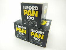 3 x ILFORD PAN 100 35mm 36 Exp CHEAP B&W FILM By 1st CLASS ROYAL MAIL