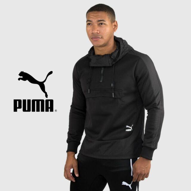 a4de96e60710 Mens Puma Evo Embossed Savannah Black Hoodie Hooded Sweater Free Tracked  Post
