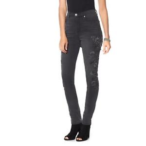 4d1be892ed6c Image is loading DG2-by-Diane-Gilman-Virtual-Stretch-Embroidered-Skinny-