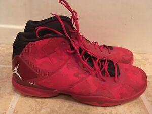 4d670194e9be53 Nike Jordan Super Fly 4 Black Gym Red Infrared 768929-630 Sz 18 ...
