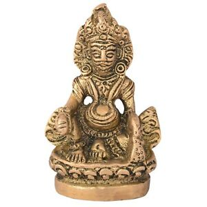 Details about Lord kuber Statue Hindu Brass Metal Antique Hindu Religious  Gift for Prayer