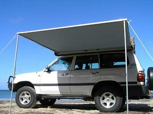 2.5M x 2M PULL OUT AWNING ROOF TOP TENT CAMPER Jeep SUV ...