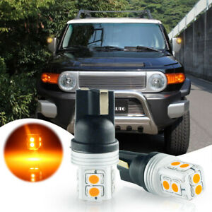 2pcs Amber Error Free Led Side Mirror Light Bulbs Fit 2007