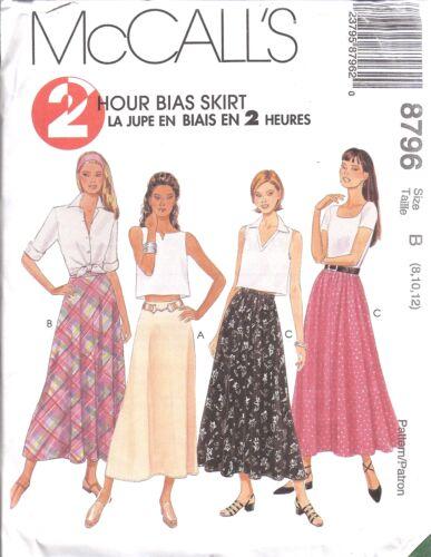8796 UNCUT McCalls Pattern Misses 2 Hour Bias Skirt SEWING FF Vintage VTG OOP