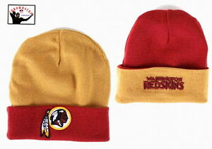 a7a549cbe Image is loading WASHINGTON-REDSKINS-Knit-Beanie-Hat-Ski-Cap-Reversible-