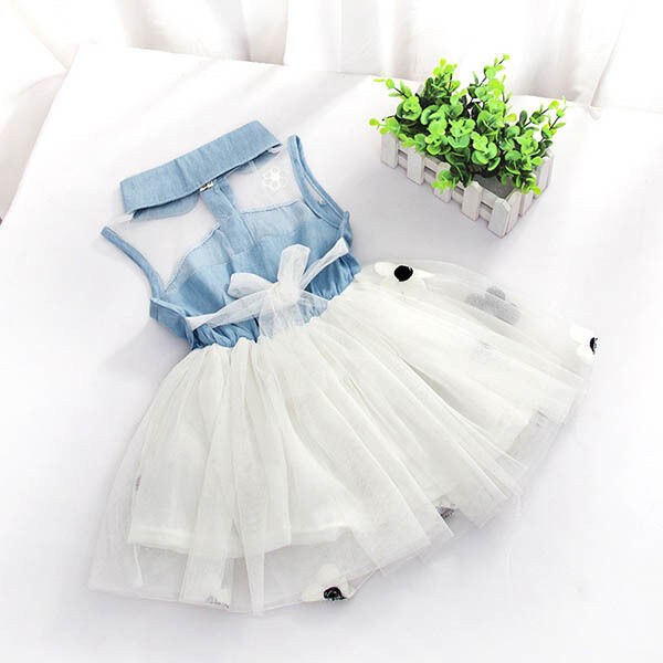 Baby Girls 1-4 Year  Dresses One Piece Floral Toddler Infants Princess Dress L21