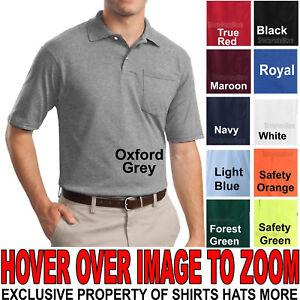Jerzees BIG MENS Polo Shirt with POCKET Cotton/Poly w/ SPOTSHIELD ...