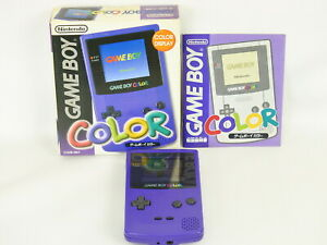 GAME-BOY-COLOR-Purple-Console-Boxed-CGB-001-Nintendo-Gameboy-Japan-Ref-028-gb
