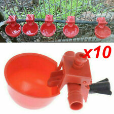 10x Poultryquail Water Drinking Cups Chicken Hen Plastic Automatic Drinker