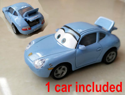 Disney Pixar Cars Precision SALLY with open trunk 1//55 Diecast