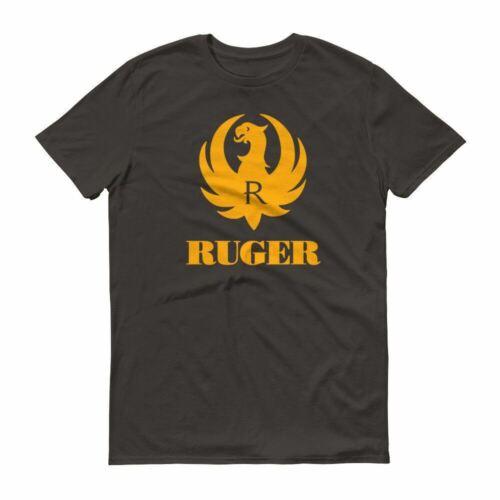 Ruger Orange Logo T Shirt 2nd Amendment Pro Gun Rights Tee Rifle Pistol Firearms