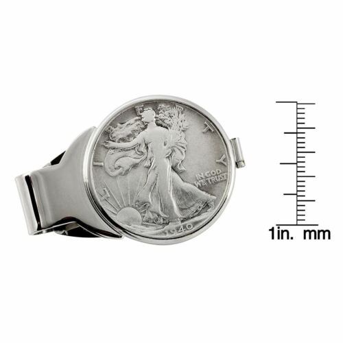NEW Year to Remember Silvertone Half Dollar Coin Money Clip 1938