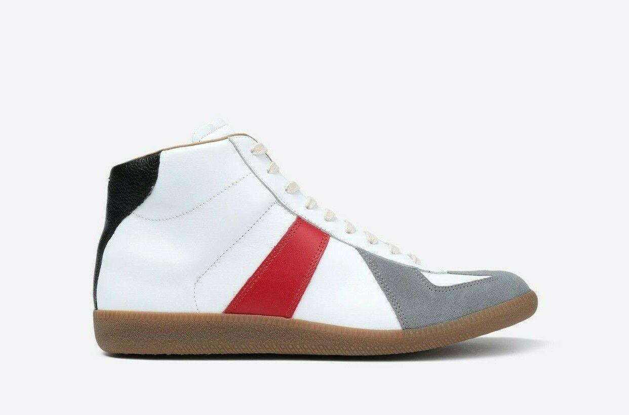MAISON MARGIELA FW18 Tricolor High-top Sneakers Shoes 42 / US 9 - NIB!